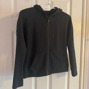Lululemon cropped black zip up lightweight size 2